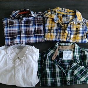 4t boys long sleeve button up shirts